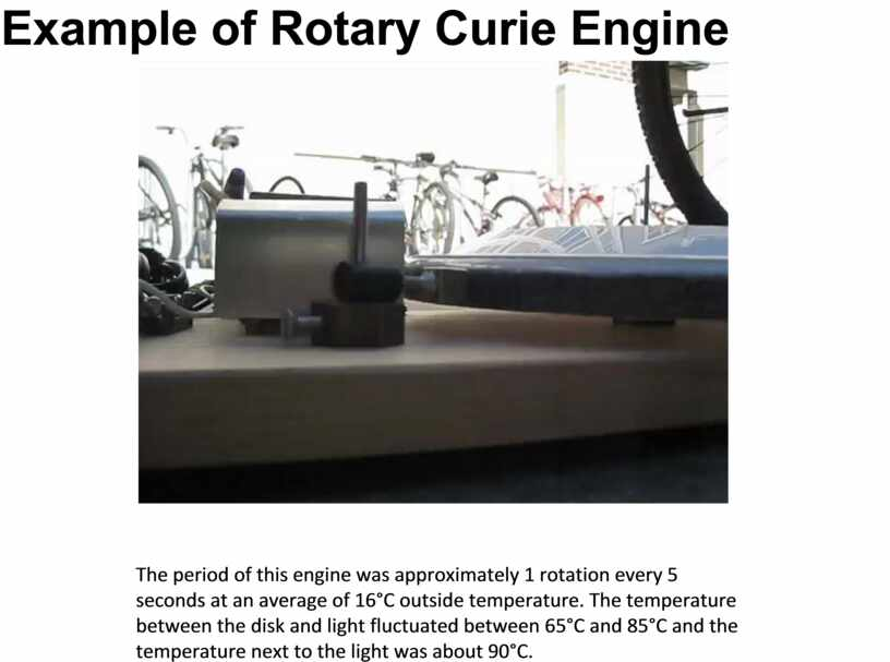 Example of Rotary Curie Engine