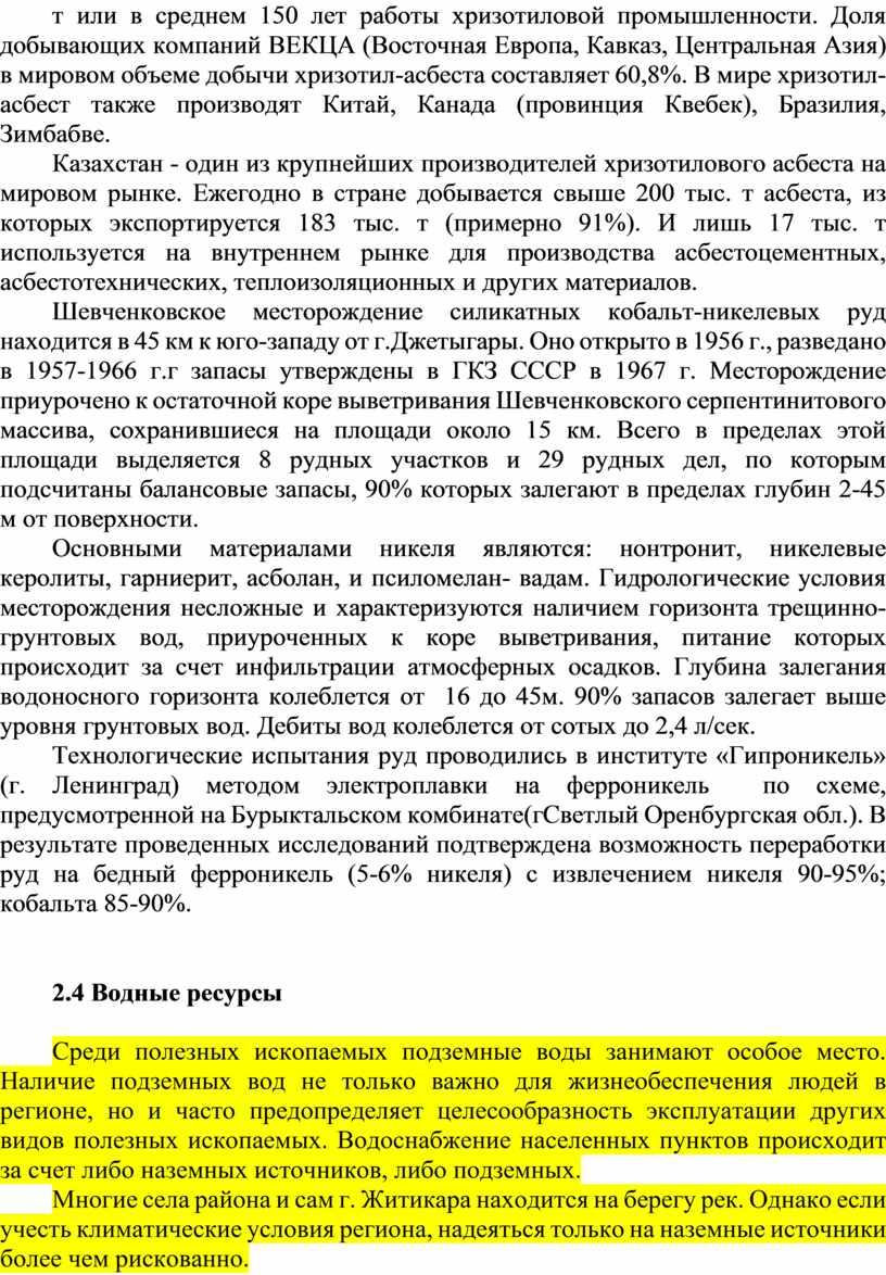 Доля добывающих компаний ВЕКЦА (Восточная