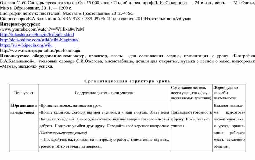 Ожегов С. И. Словарь русского языка: