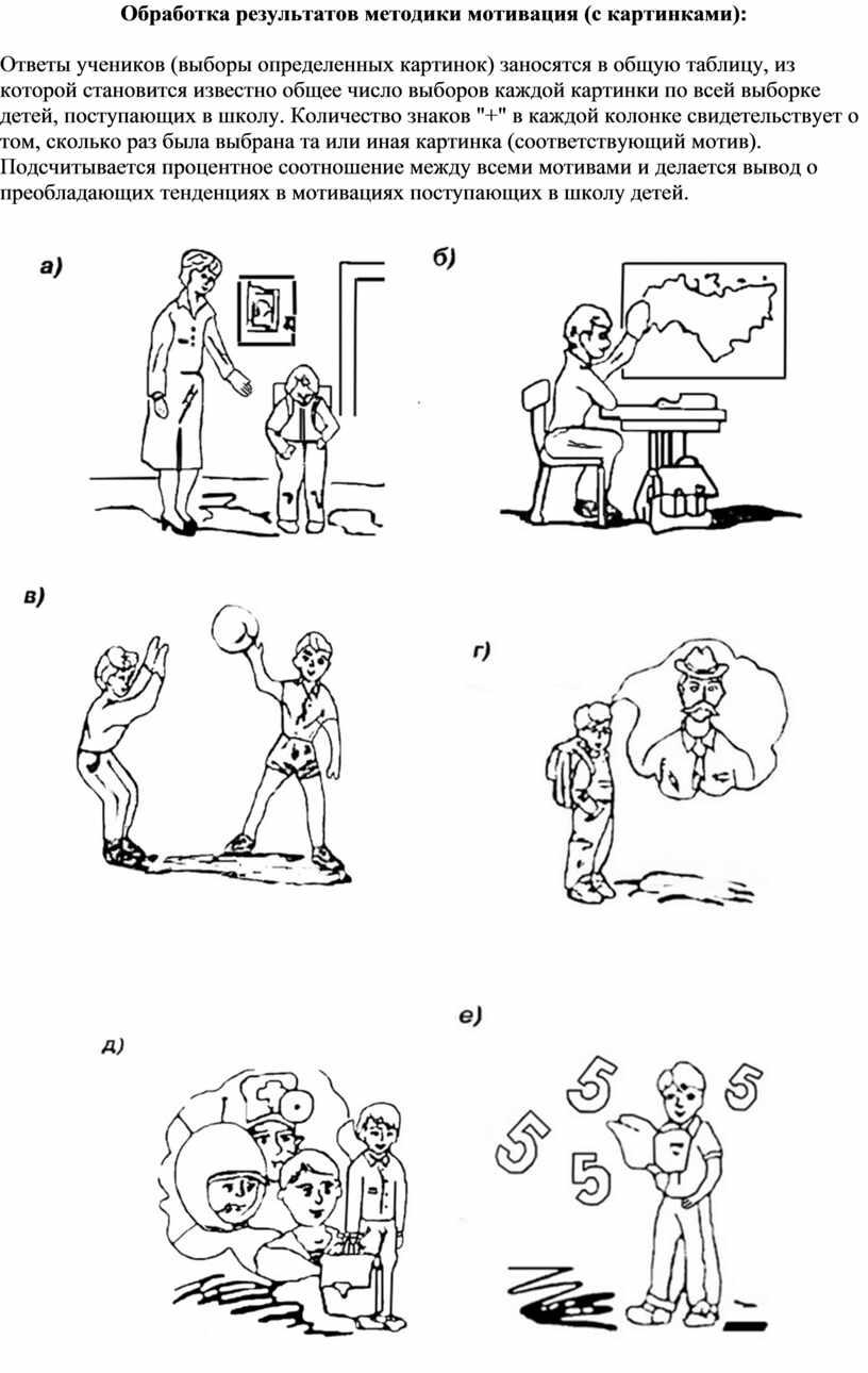 Обработка результатов методики мотивация (с картинками):