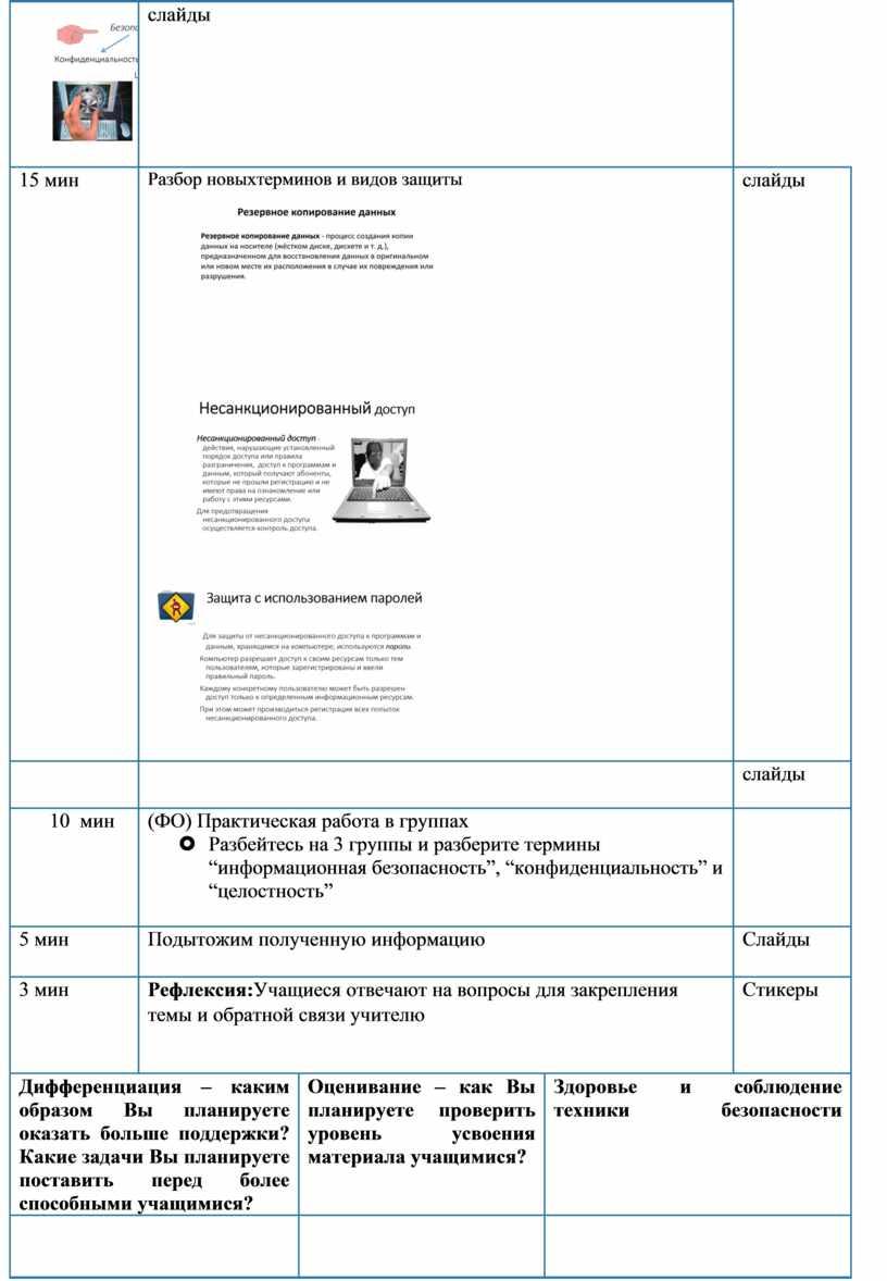 Разбор новыхтерминов и видов защиты слайды слайды 10 мин (ФО)
