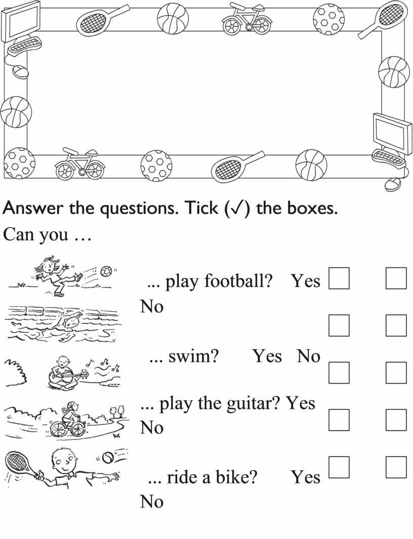 Answer the questions. Tick ( ✓ ) the boxes