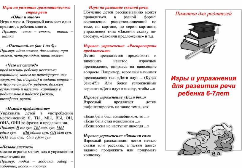 Игры на развитие грамматического строя речи «Один и много»
