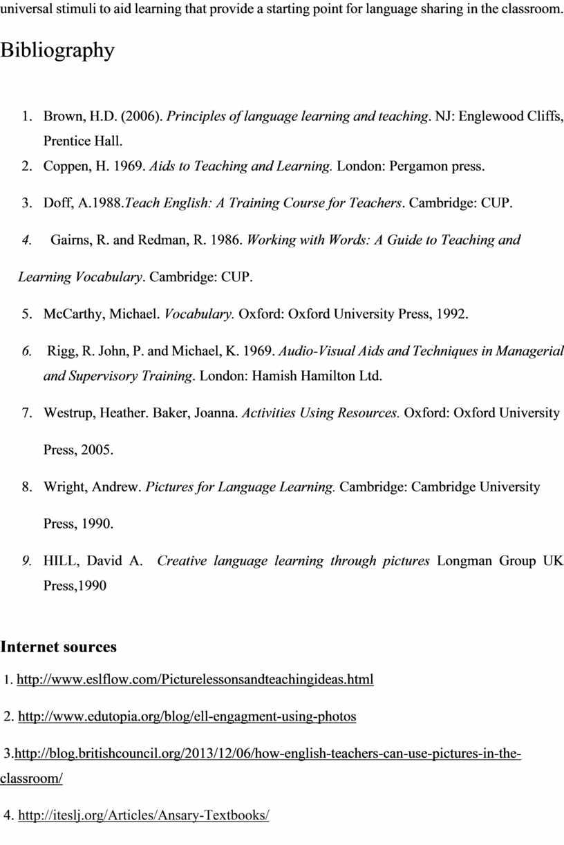 Bibliography Brown, H.D. (2006)