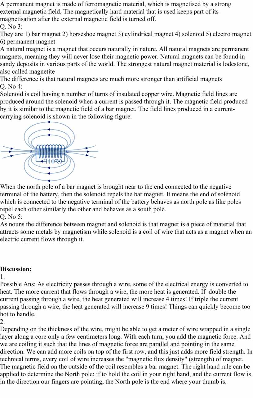 A permanent magnet is made of ferromagnetic material, which is magnetised by a strong external magnetic field