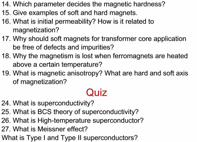Which parameter decides the magnetic hardness? 15