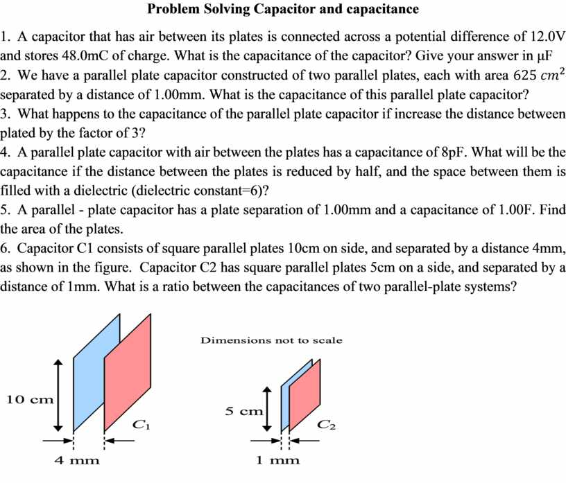 Problem Solving Capacitor and capacitance 1