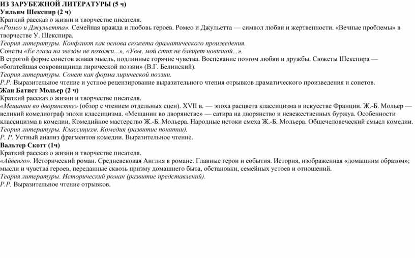 ИЗ ЗАРУБЕЖНОЙ ЛИТЕРАТУРЫ (5 ч)