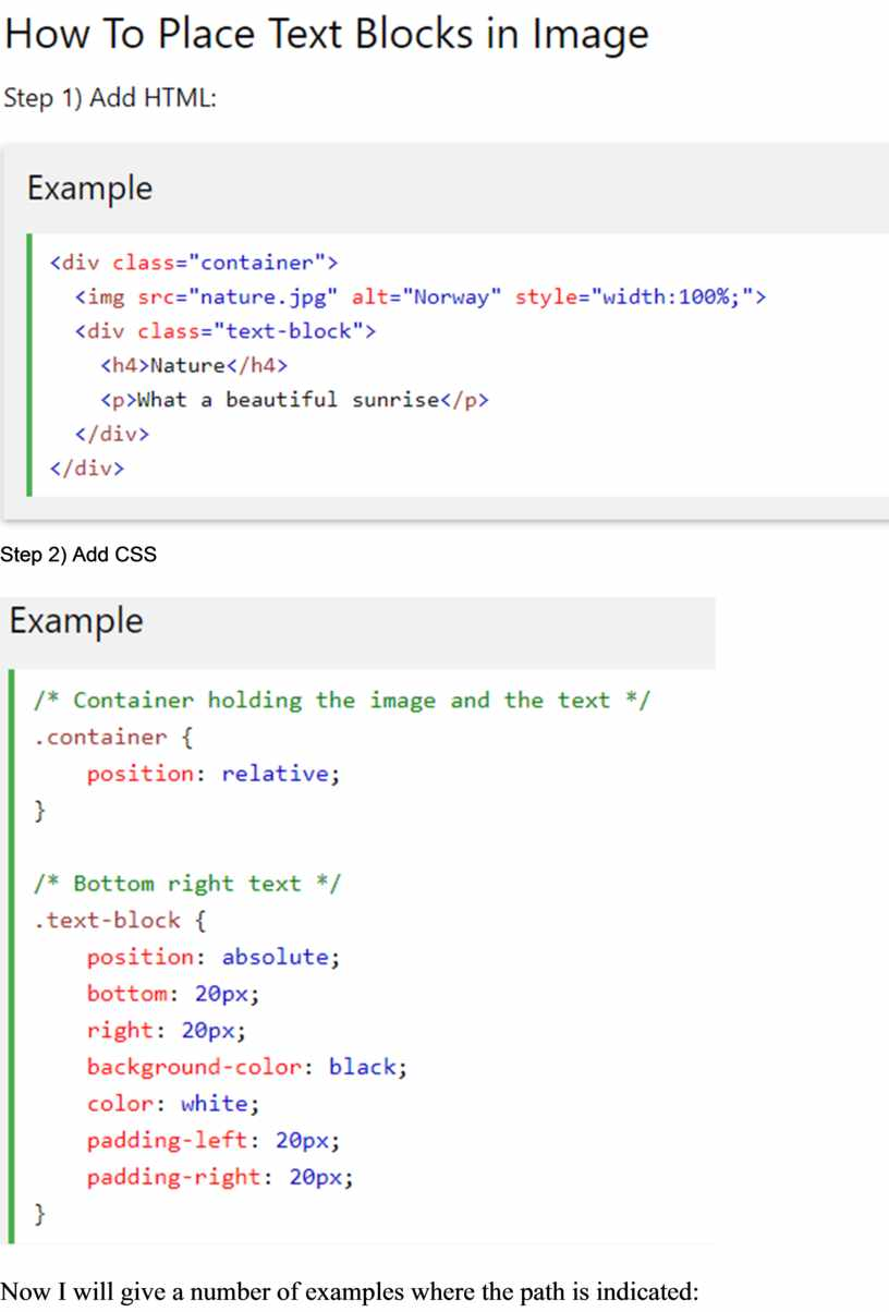 Step 2) Add CSS Now I will give a number of examples where the path is indicated: