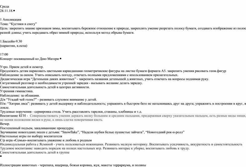 Среда 28.11.18. 1 Аппликация