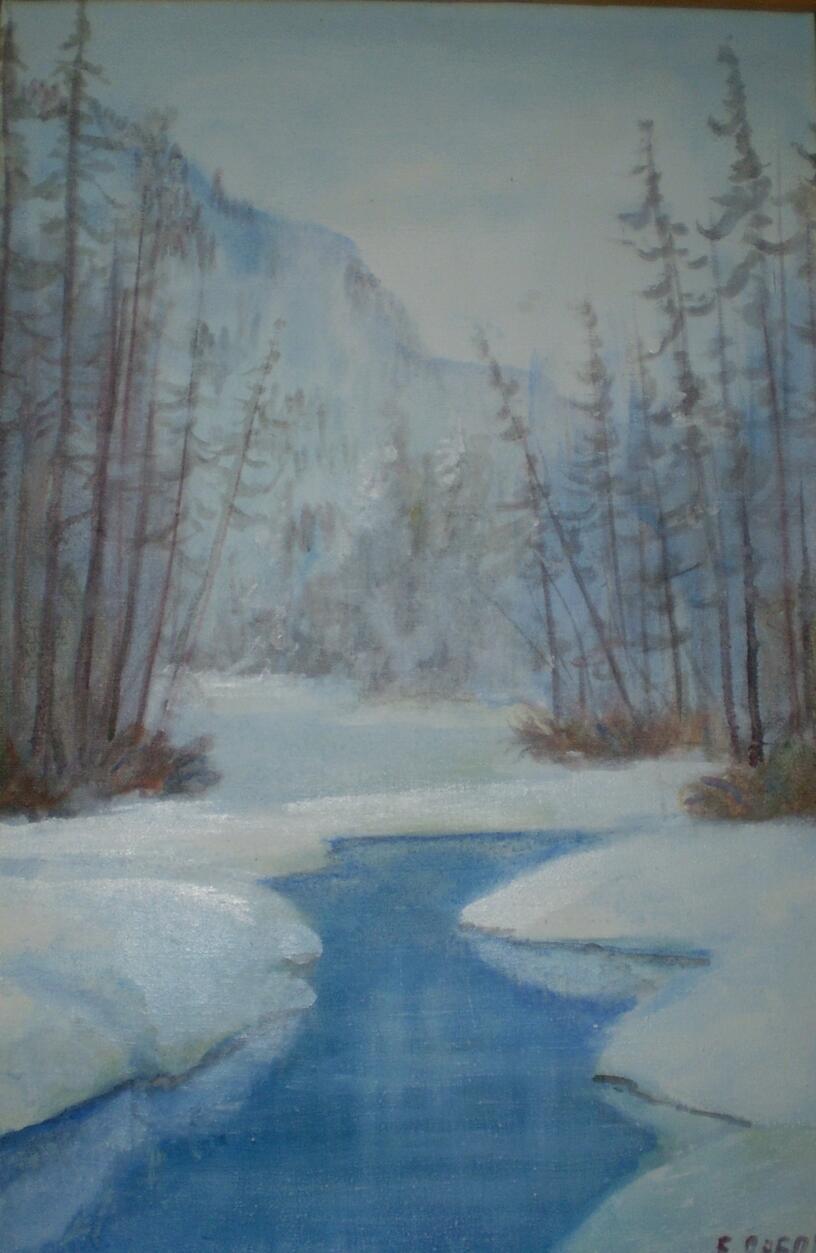 Урок развития речи. Сочинение-миниатюра «Амурский пейзаж. Зима»