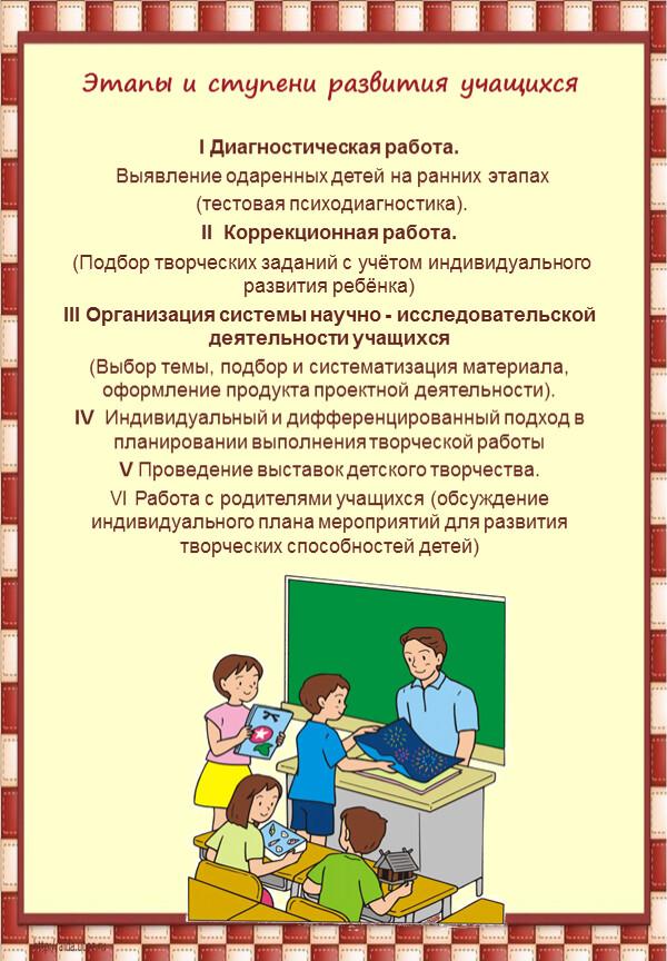 Этапы и ступени развития учащихся