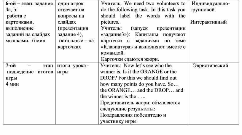 Учитель : We need two volunteers to do the following task
