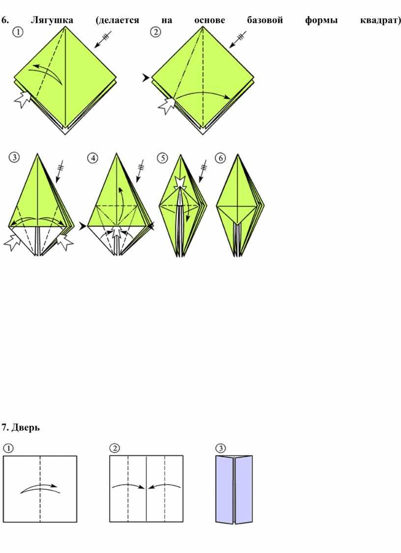 Лягушка (делается на основе базовой формы квадрат) 7