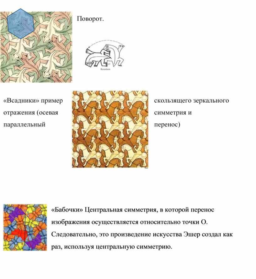 Бабочки» Центральная симметрия, в которой перенос изображения осуществляется относительно точки