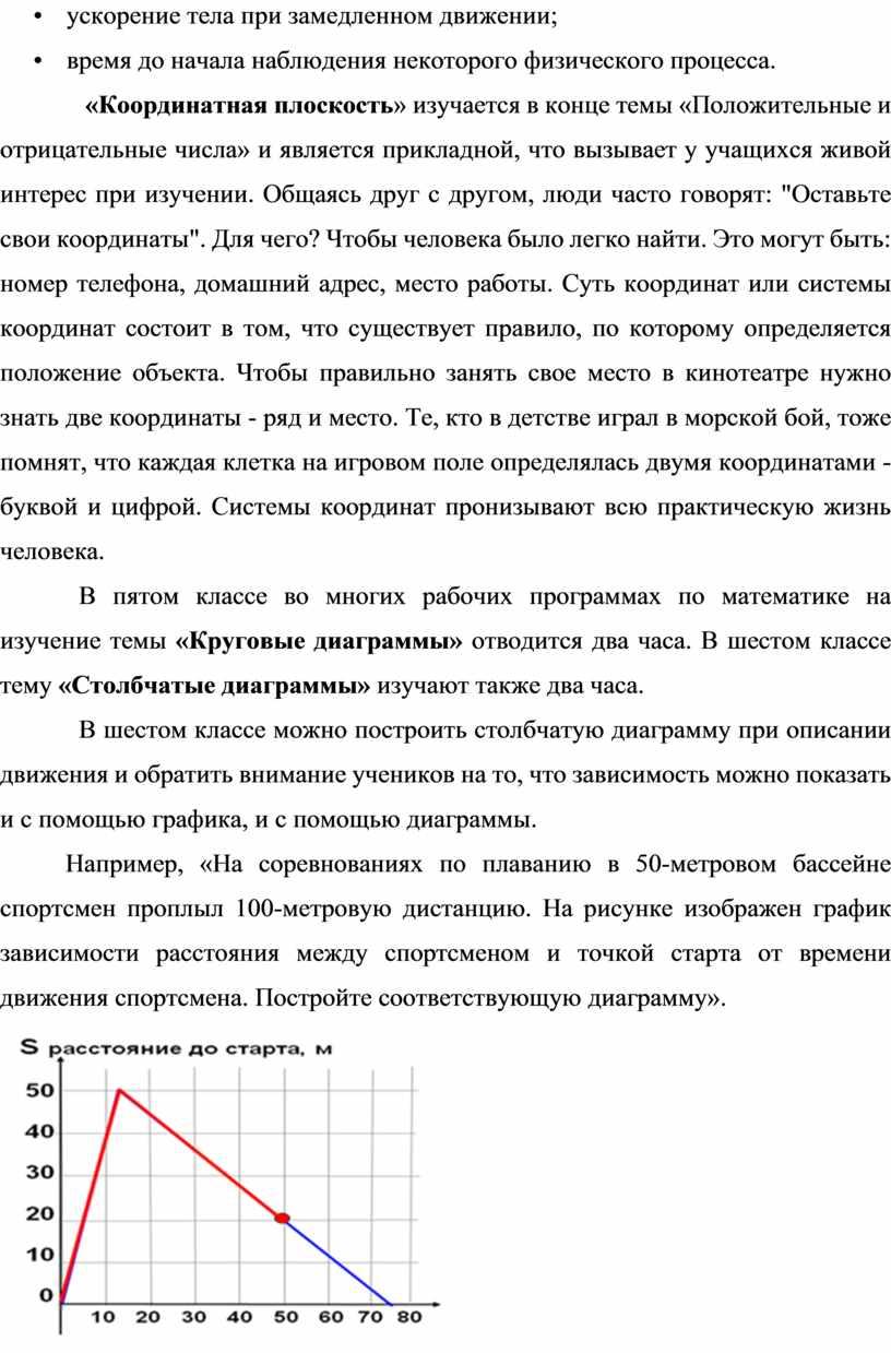 Координатная плоскость » изучается в конце темы «Положительные и отрицательные числа» и является прикладной, что вызывает у учащихся живой интерес при изучении