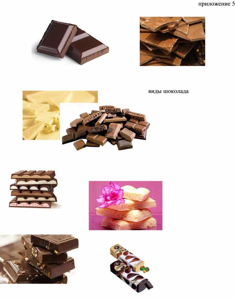 приложение 5 виды шоколада