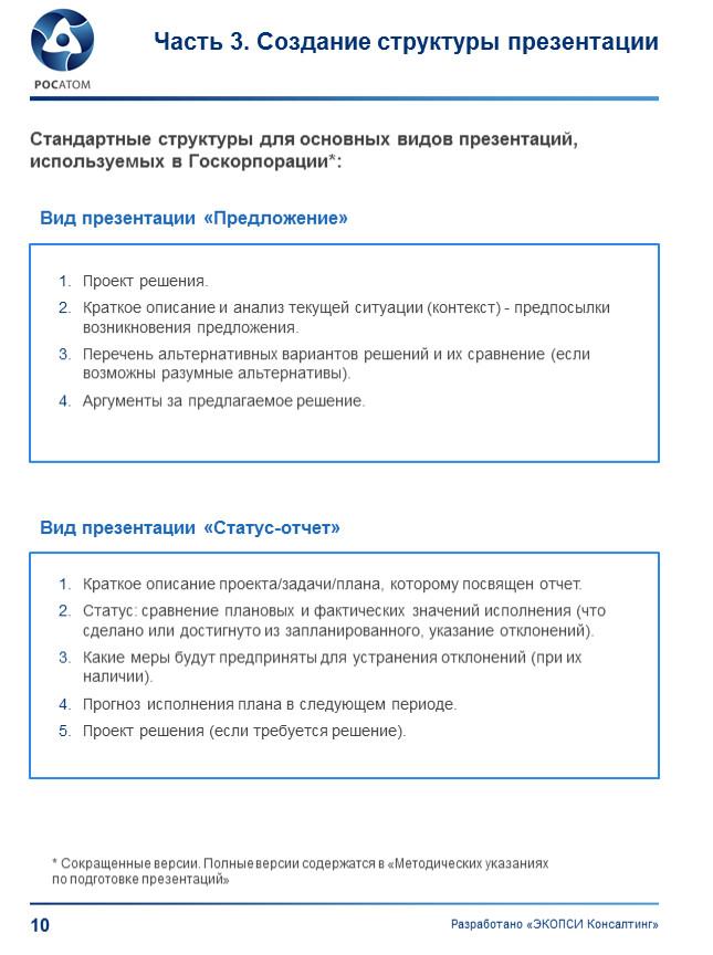 Вид презентации «Предложение» Проект решения
