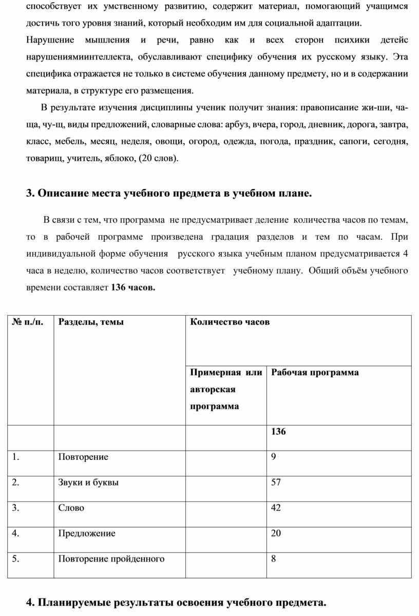 Нарушение мышления и речи, равно как и всех сторон психики детейс нарушениямиинтеллекта, обуславливают специфику обучения их русскому языку