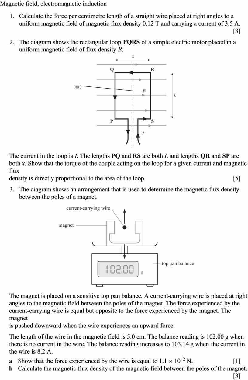 Magnetic field, electromagnetic induction 1