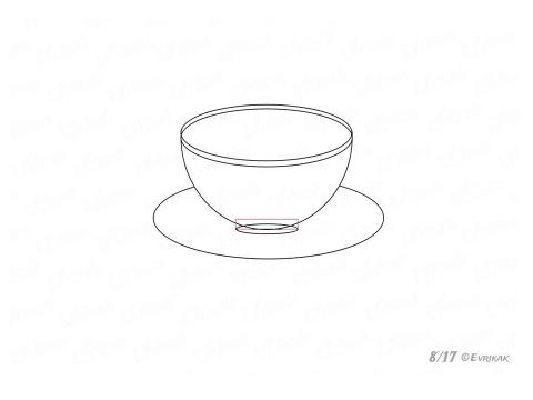 """Презентация по ИЗО """"Учимся рисовать чашку с блюдцем"""""""