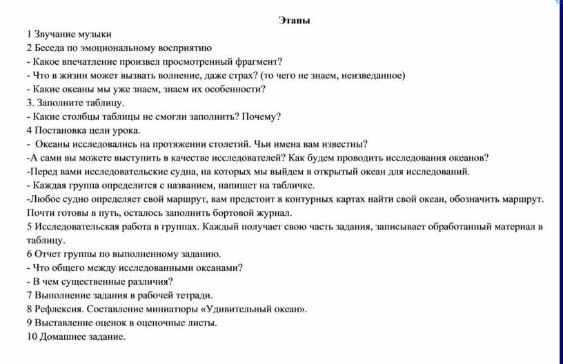 Этапы 1 Звучание музыки 2