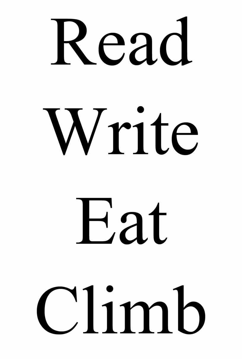 Read Write Eat Climb