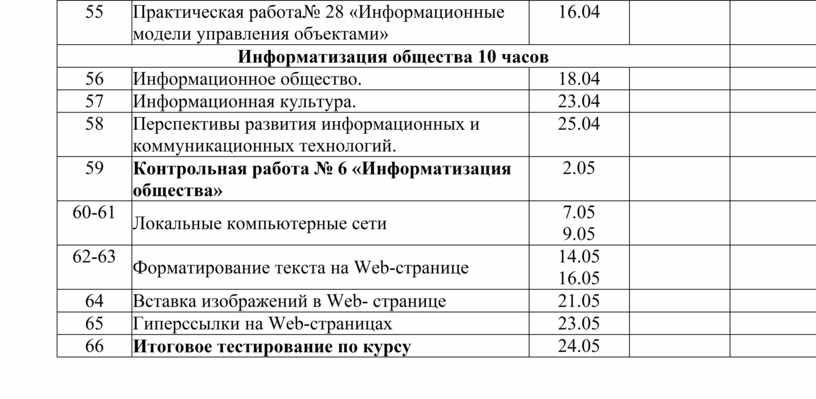 Практическая работа№ 28 «Информационные модели управления объектами» 16