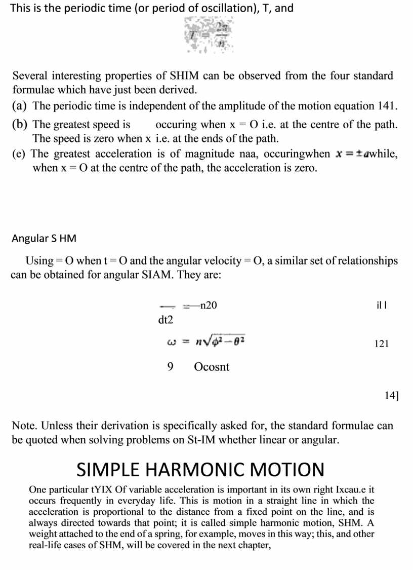 This is the periodic time (or period of oscillation),