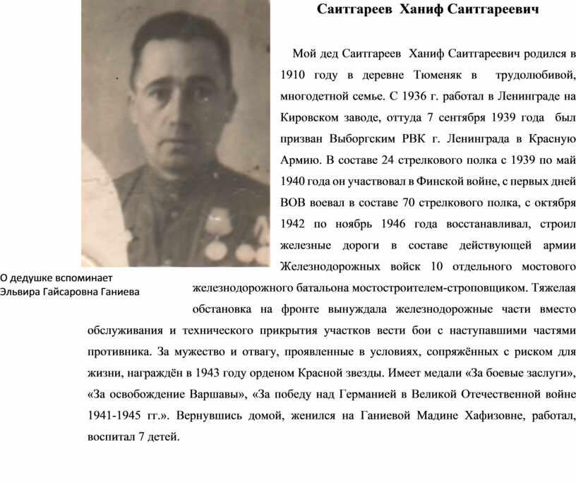 Саитгареев Ханиф Саитгареевич