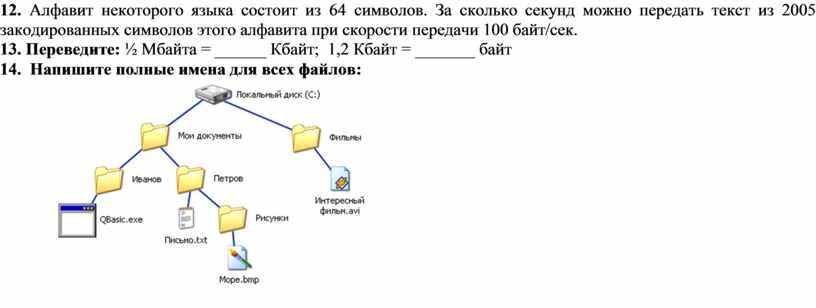 Алфавит некоторого языка состоит из 64 символов
