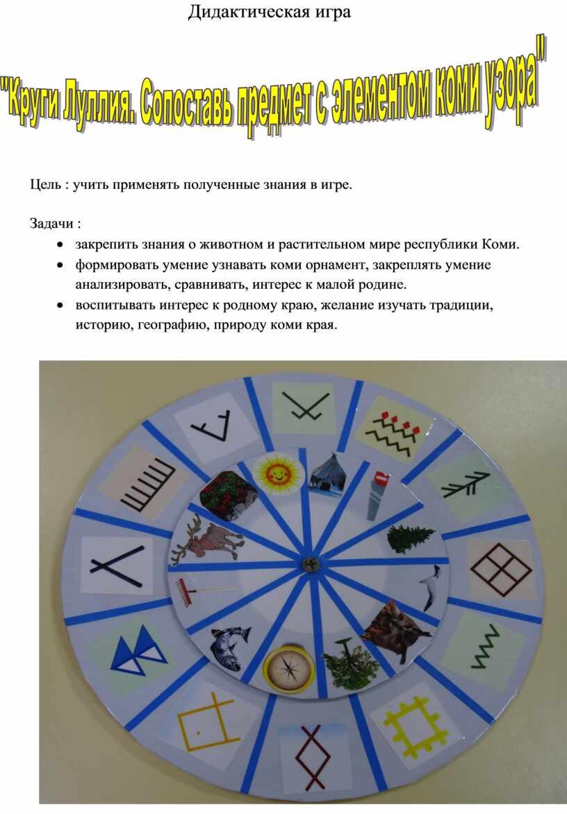 Дидактическая игра Цель : учить применять полученные знания в игре