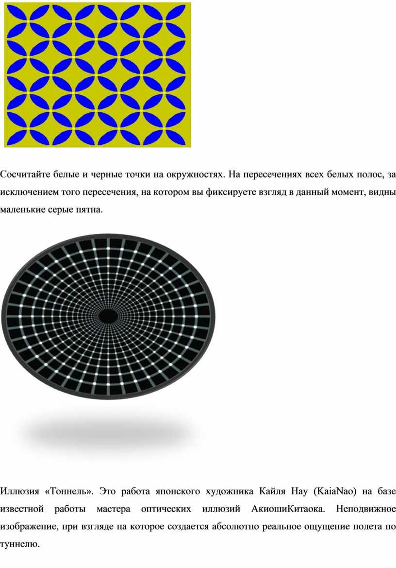 Сосчитайте белые и черные точки на окружностях