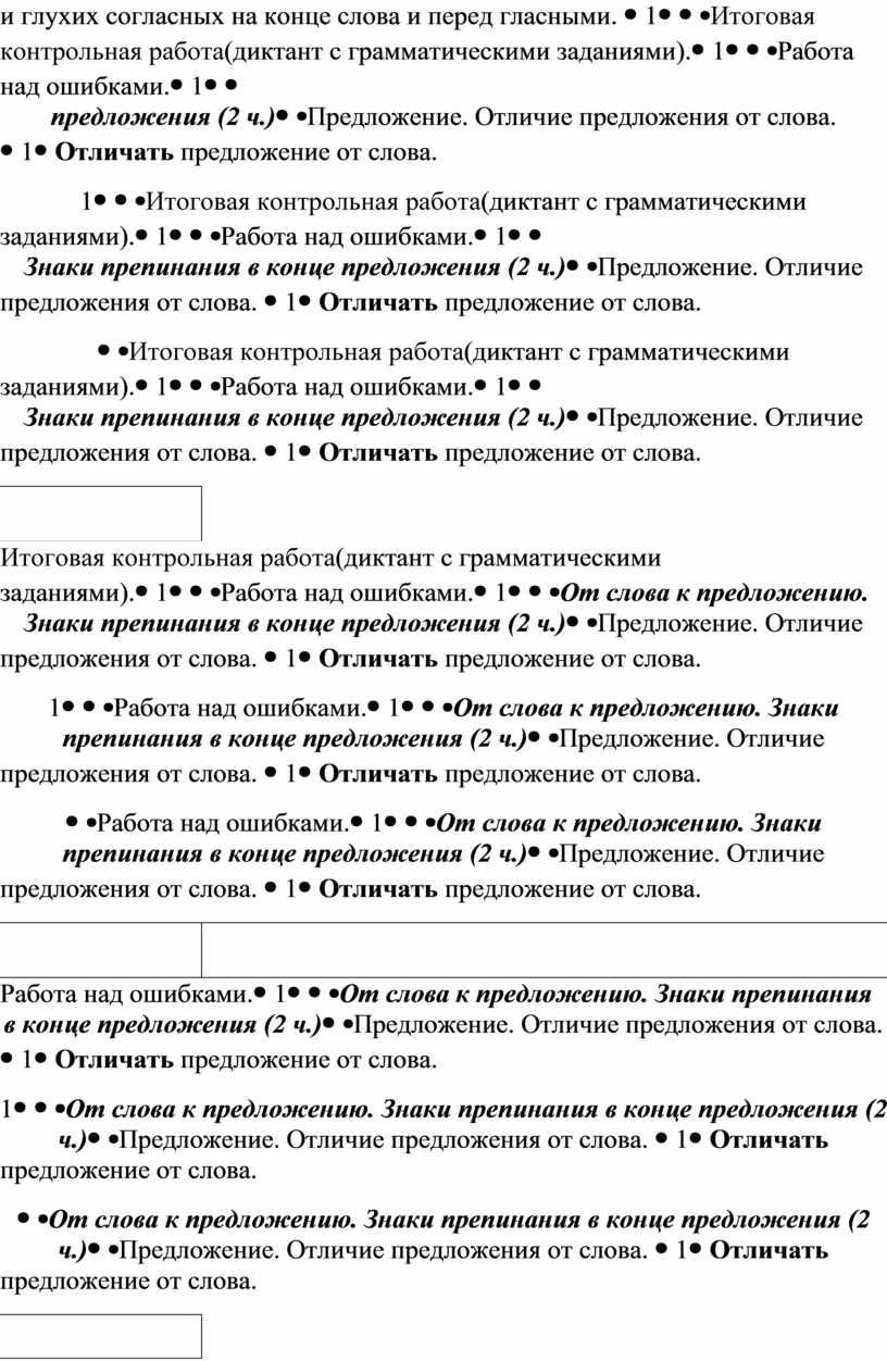 Итоговая контрольная работа (диктант с грамматическими заданиями)