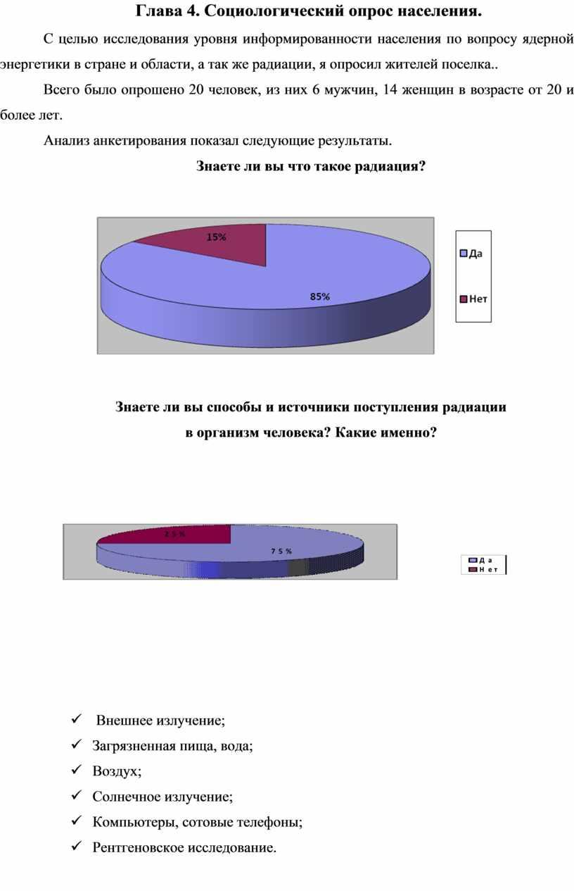 Глава 4. Социологический опрос населения