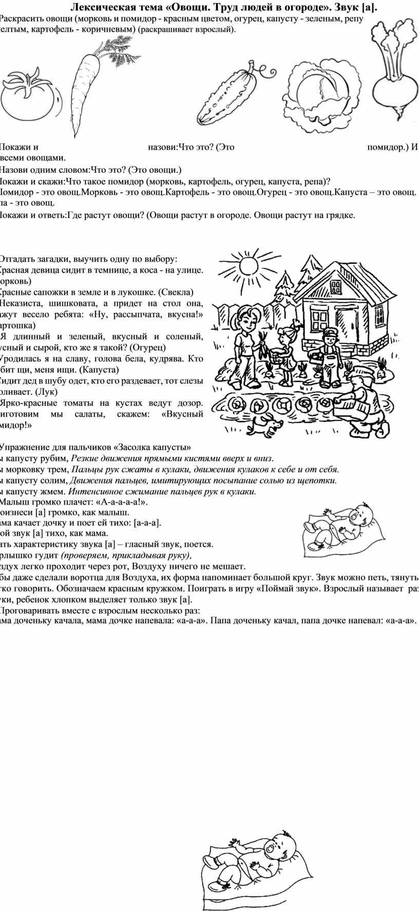 Лексическая тема «Овощи. Труд людей в огороде»