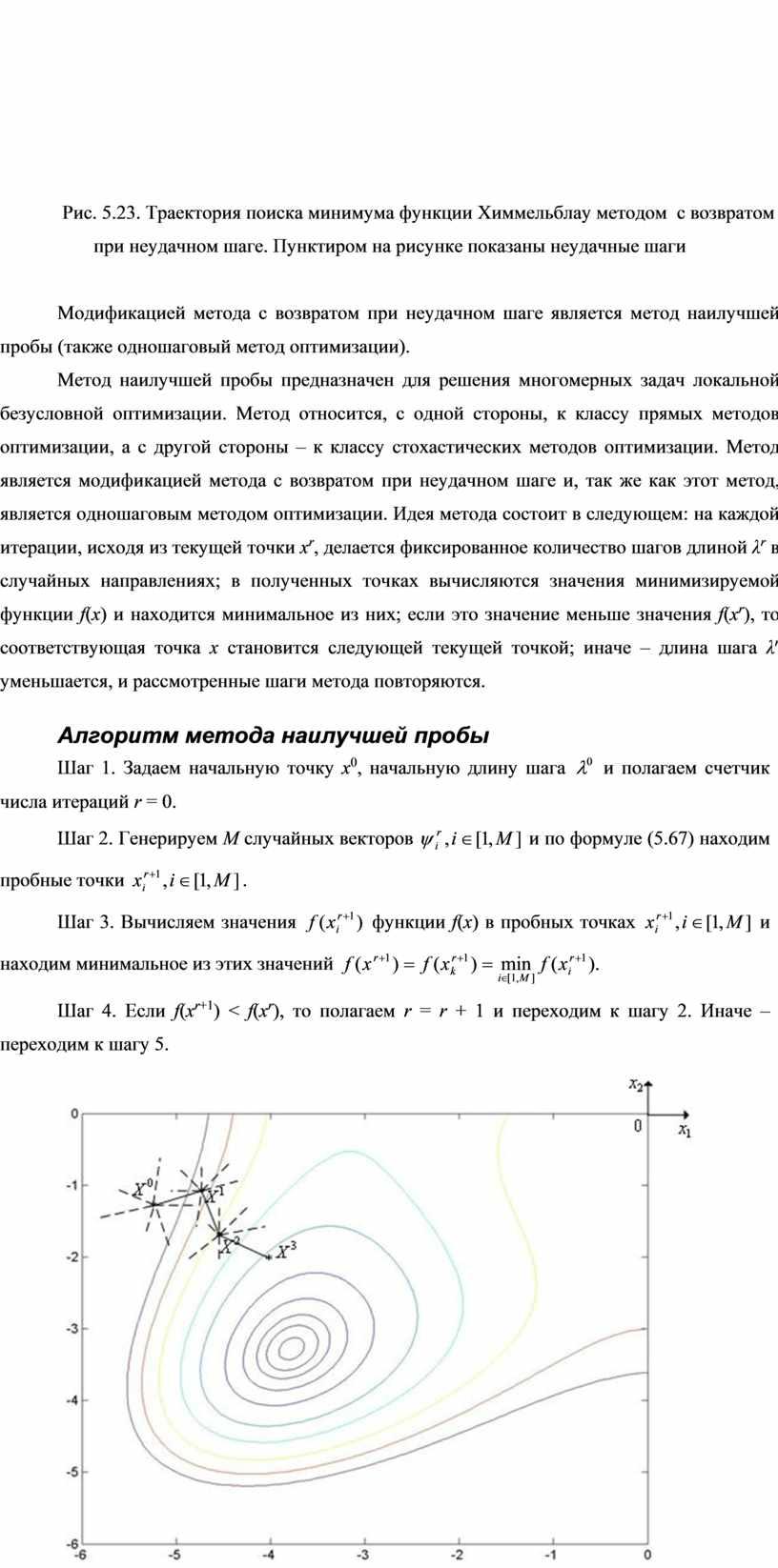 Рис. 5.23. Траектория поиска минимума функции
