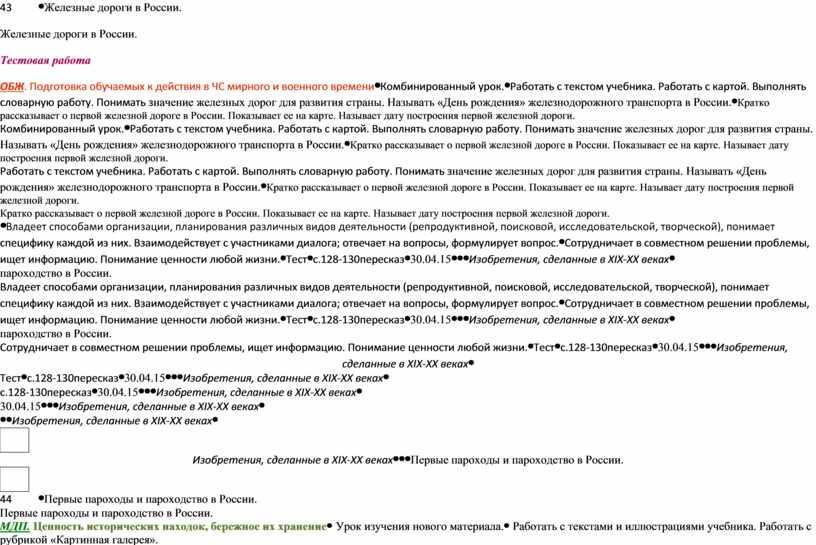 Железные дороги в России. Тестовая работа