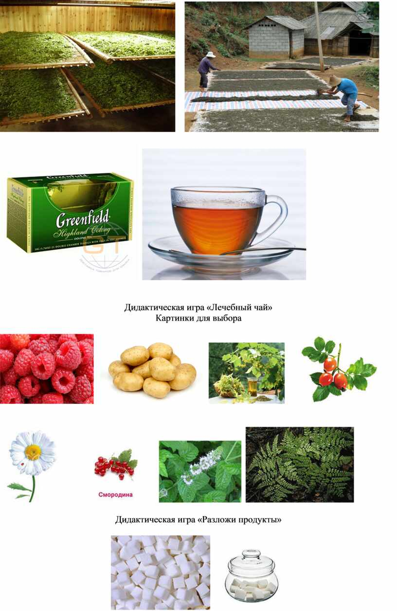 Дидактическая игра «Лечебный чай»