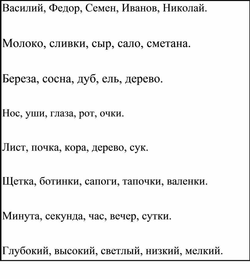 Василий, Федор, Семен, Иванов,