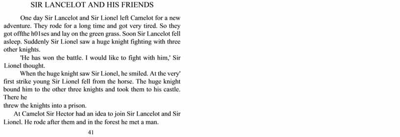 SIR LANCELOT AND HIS FRIENDS