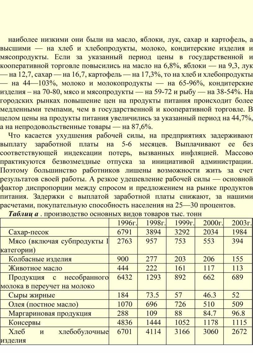 Если за указанный период цены в государственной и кооперативной торговле повысились на масло на 6,8%, яблоки — на 9,3, лук — на 12,7, сахар —…