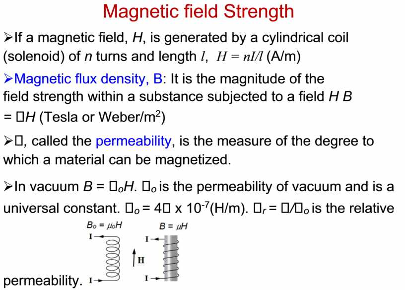 Magnetic field Strength Ø If a magnetic field,
