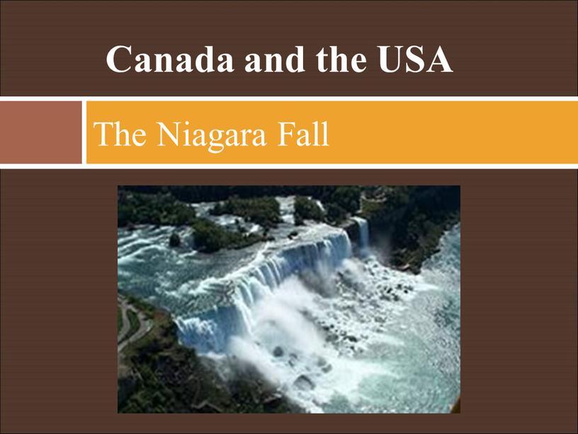 Canada and the USA The Niagara