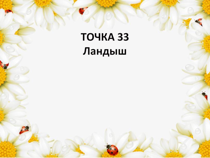 ТОЧКА 33 Ландыш