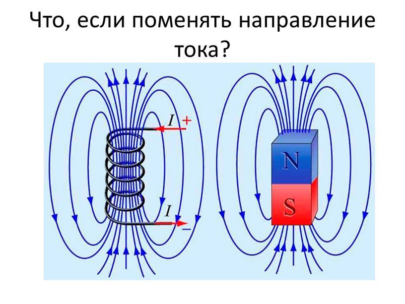 Что, если поменять направление тока?