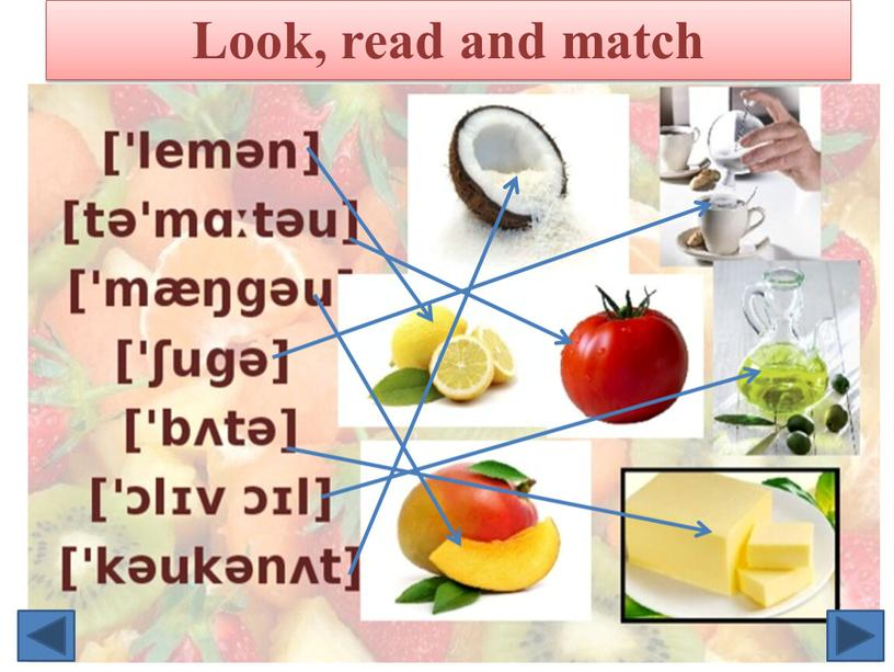Look, read and match