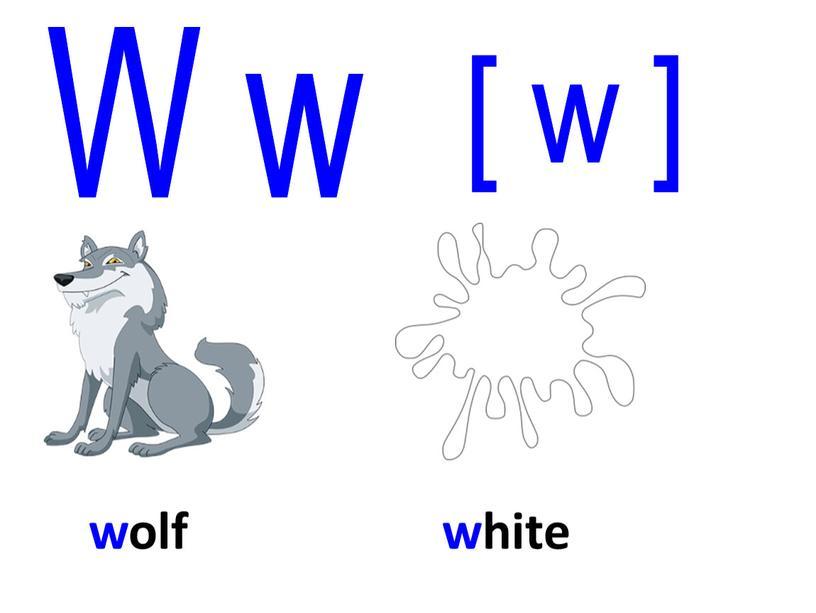 wolf W w [ w ] white