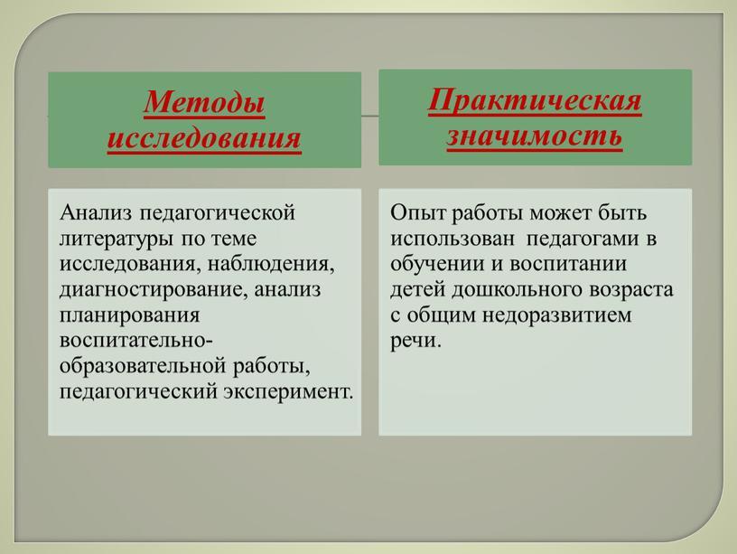 ПРЕЗЕНТАЦИЯ ПО ОБОБЩЕНИЮ ОПЫТА РАБОТЫ «ОБЩЕРАЗВИВАЮЩИЕ УПРАЖНЕНИЕ – ОДНО ИЗ СРЕДСТВ РАЗНОСТОРОННЕГО РАЗВИТИЯ ДЕТЕЙ ДОШКОЛЬНОГО ВОЗРАСТА С ОБЩИМ НЕДОРАЗВИТИЕМ РЕЧИ»