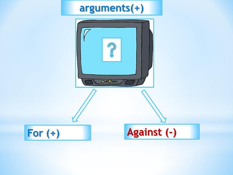 For (+) Against (-) arguments(+)